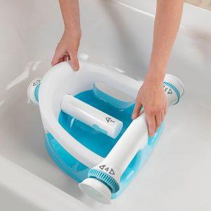 Summer My Bath Seat (Aqua) – Baby Bathtub Seat for Sit-Up Bathing